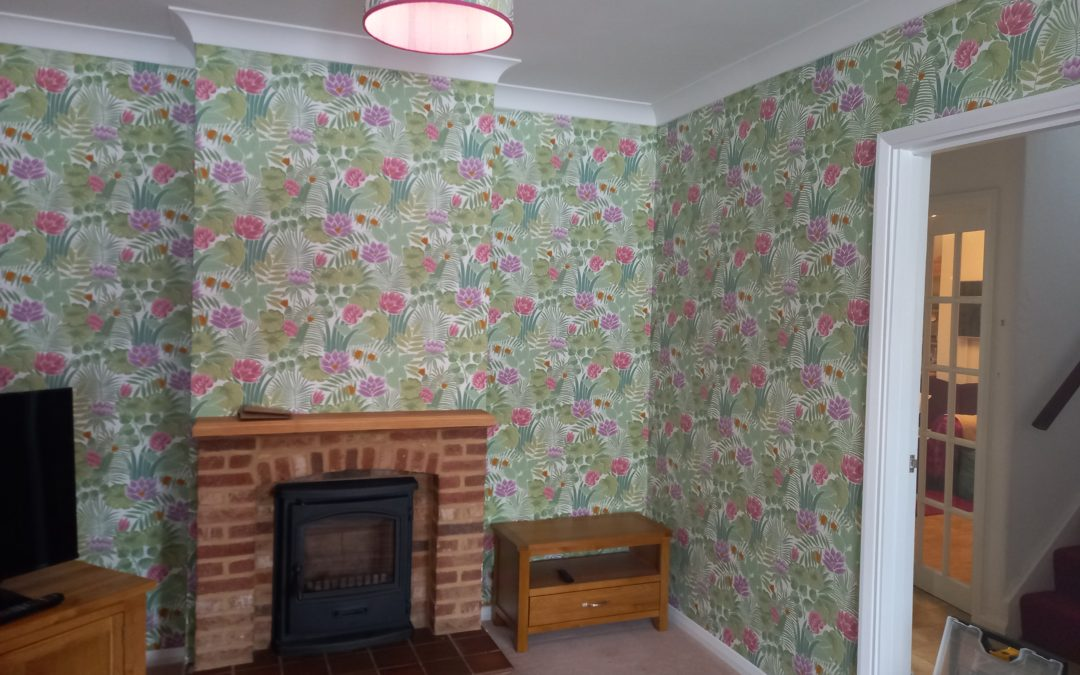 Coving and wallpapering